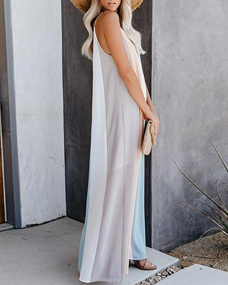 v neck striped women summer sleeveless maxi dress