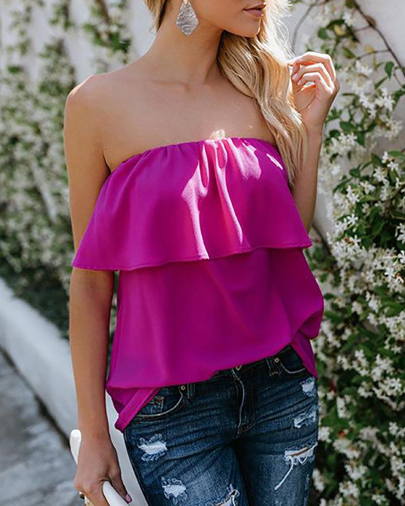 One-shoulder sexy chiffon shirt top