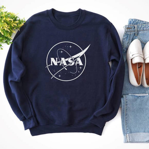 NASA Galaxy Crewneck Pullover