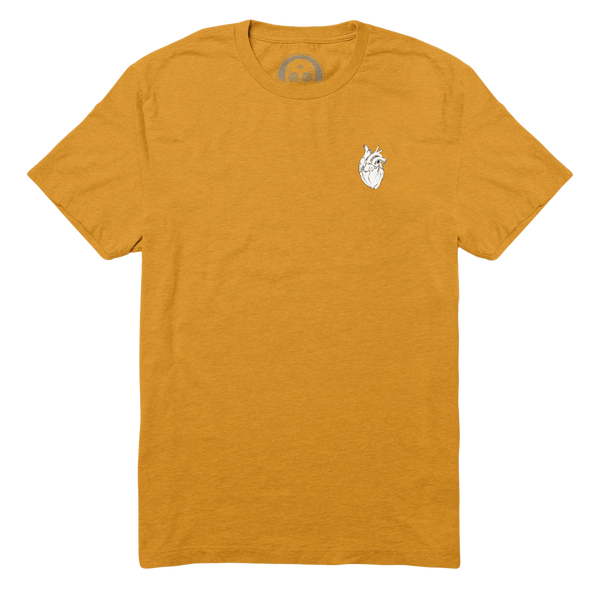 Anatomical Heart Forever (Prism) Tee - Mustard