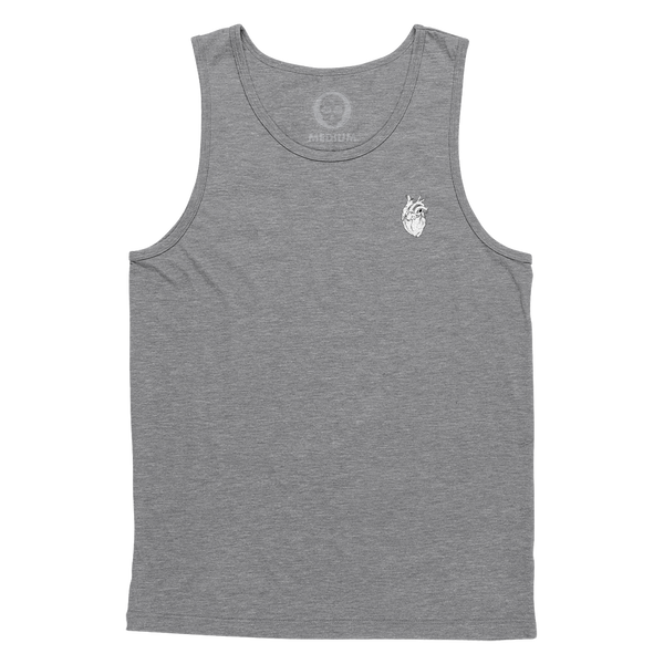 Anatomical Heart Forever Tank Top - Heather Grey