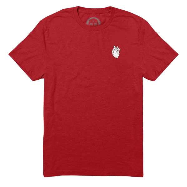 Anatomical Heart Forever Tee - Blood Red