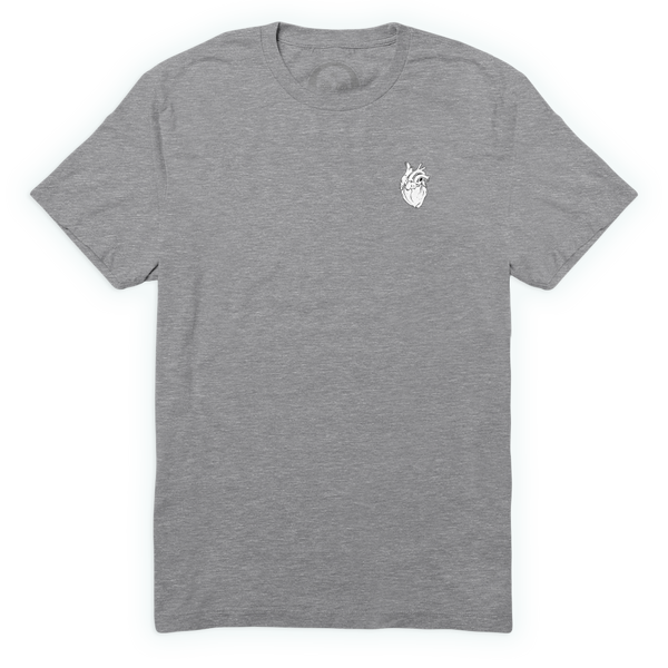 Anatomical Heart Forever Tee - Heather Grey