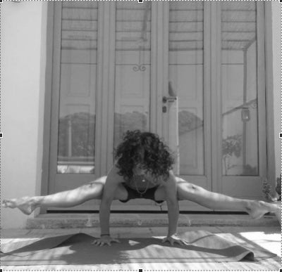 Ornella teaches slow flow yoga in English at Ashoka