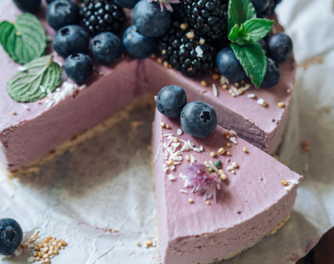 The Raw Berry No Bake Brombeer Cheesecake