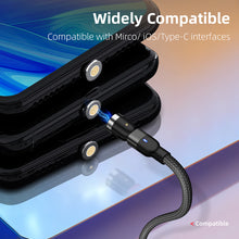 Load image into Gallery viewer, BUY 1 TAKE 1 URBANLAZY OMNIDIRECTIONAL MAGNETIC FAST CHARGING CABLE (IPHONE,ANDROID MICROUSB AND TYPE-C PIN INCLUDED)