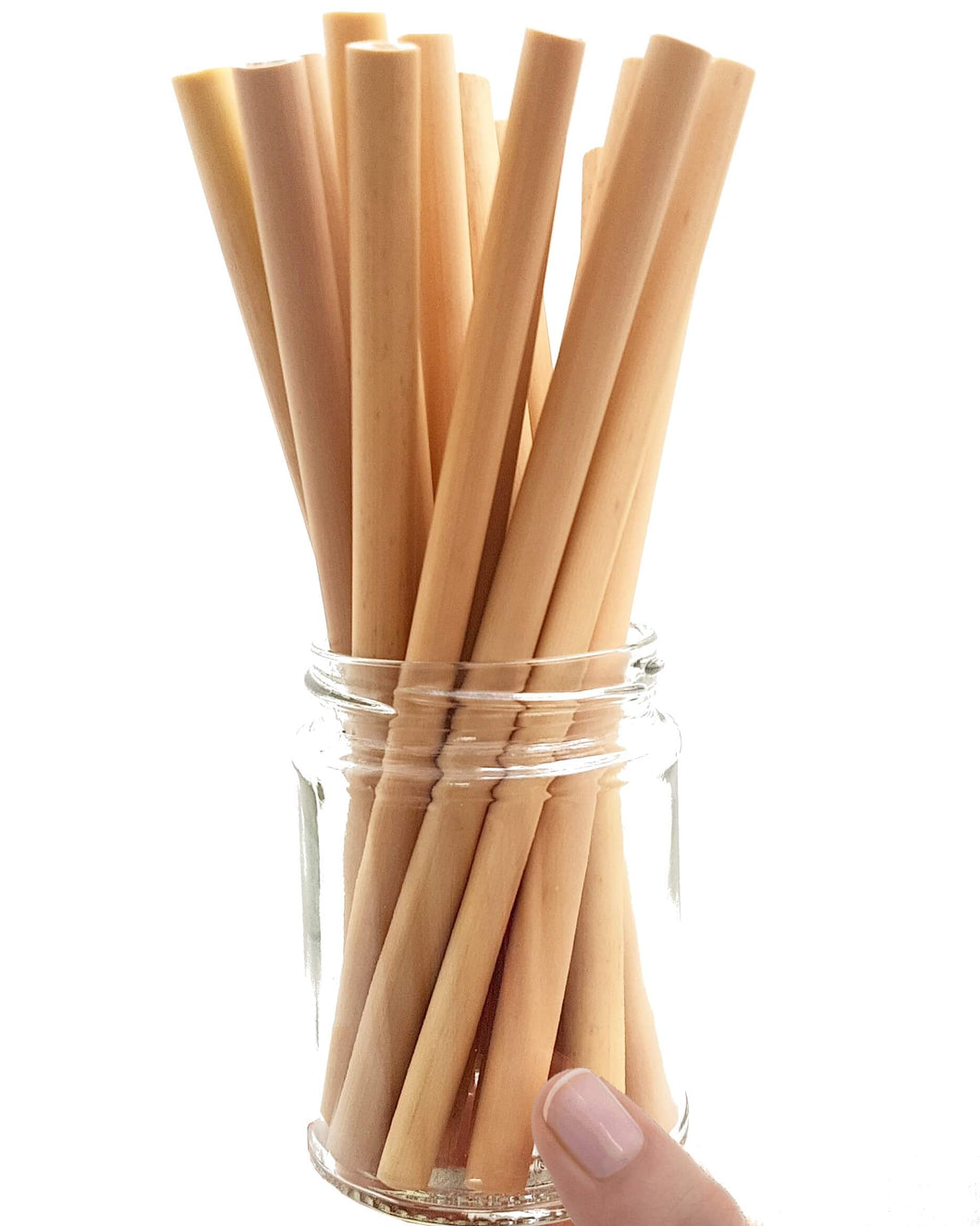 Naturally Carved Bamboo Straws