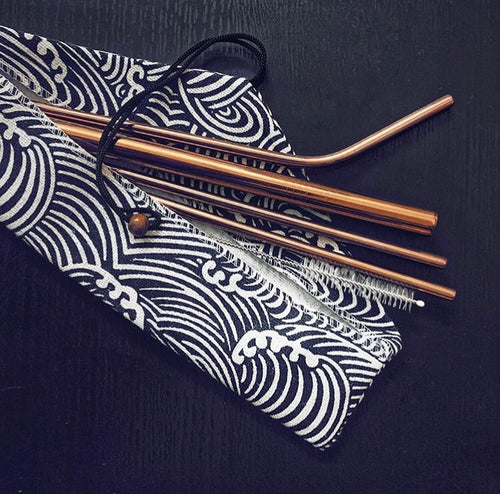 Rose Gold Stainless Steel Straws