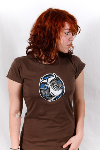 Dolphin Bay Whale (only in sizes S and M) on American Apparel Chocolate Women's Fit