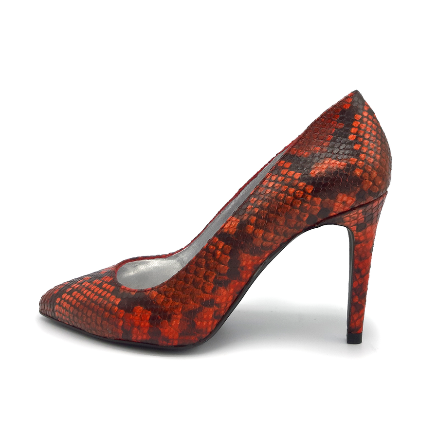 Francesca Red Sneakskin Pump