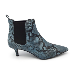 Sarah Heeled Light Blue Boots