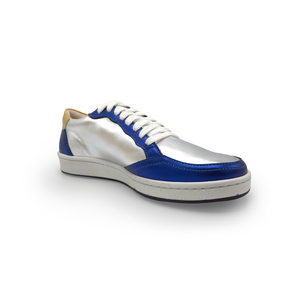 Elodie Silver, Blue and Gold Sneakers