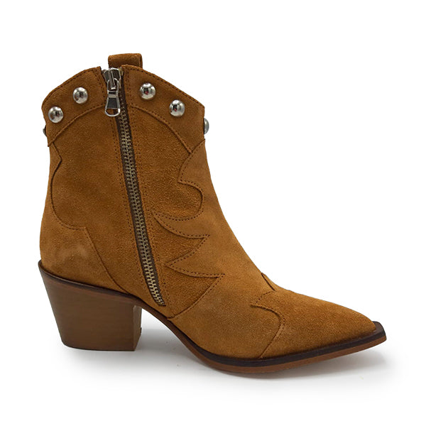 Anna Caramel Ankle Boots