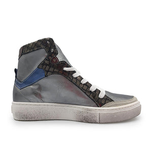Laura Argent Mix Sneakers