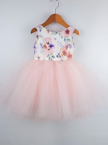 Tutu Dress - 'Evie' with Baby Pink