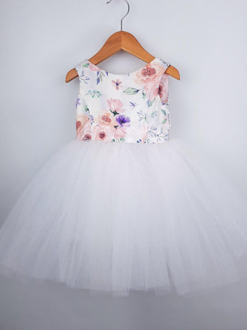 Tutu Dress - 'Evie' with White