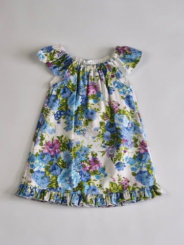 'Charlie' Dress in Blue Floral