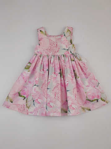 'Lola' Dress in Pink Peonies