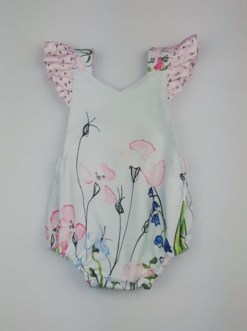 'Milly' Playsuit in Watercolours