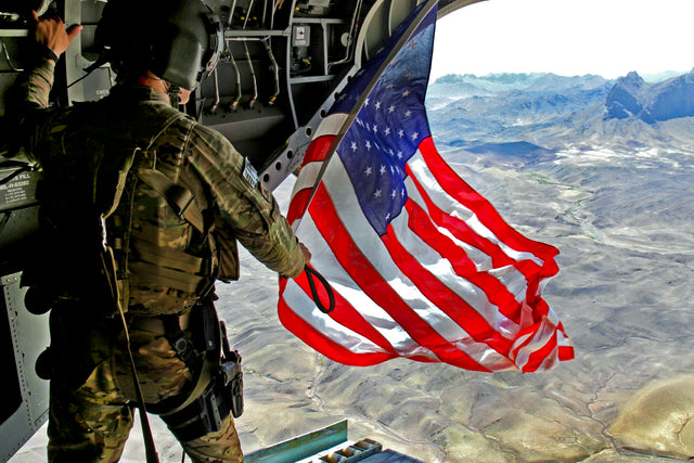 US Flag Flying from the US Military