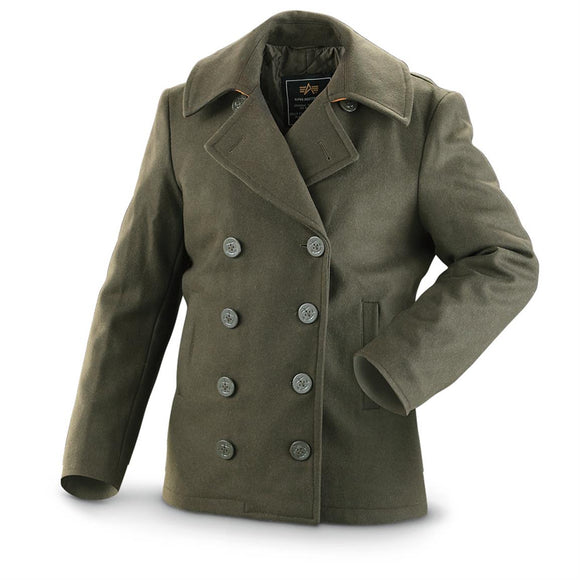 Mens USN Ensign Pea Coat
