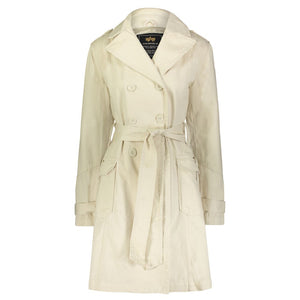 Womens Cotton Military Trench Coat