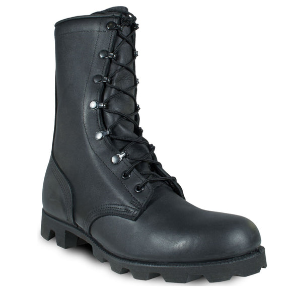Leather Combat Boots - Panama Sole