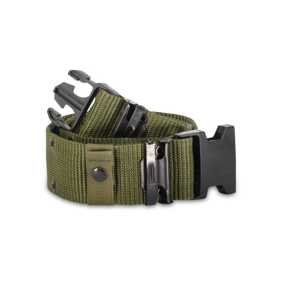 Military Pistol Belt with Quick-Release Buckle