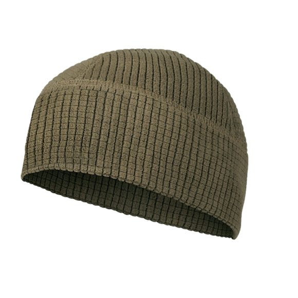 Grid Fleece Beanie Cap