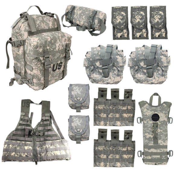 13 Piece MOLLE Rifleman Kit — Used
