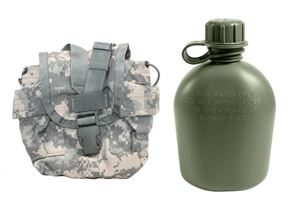 1 Quart Canteen with GI ACU Canteen Cover