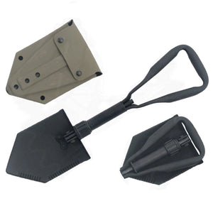 GI Collapsible Steel E-Tool Trench Shovel with Cover