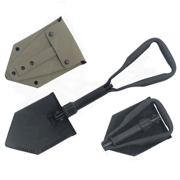 Collapsible Steel E-Tool Trench Shovel with Cover