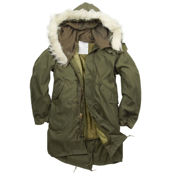 GI Vintage M-65 Fishtail Parka, New with Hood & Liner
