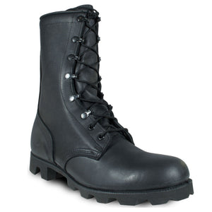 Leather Combat Boots - Panama Sole, Blemished