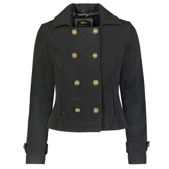 Womens Wool Cropped Peacoat