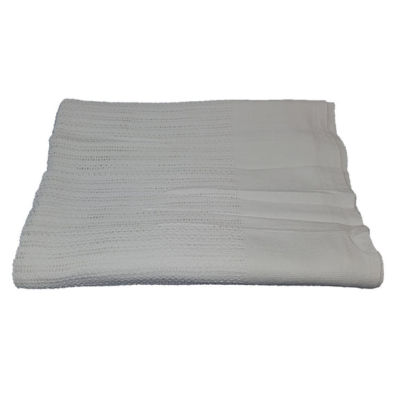 White Thermal Cotton Blanket
