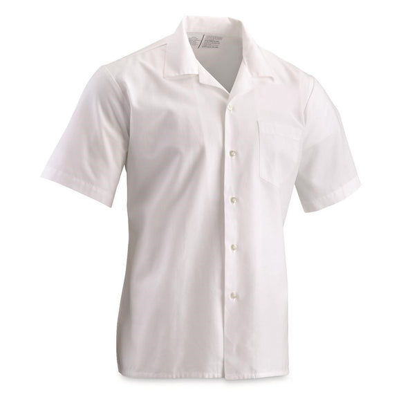 White Short-sleeve Lab Coat