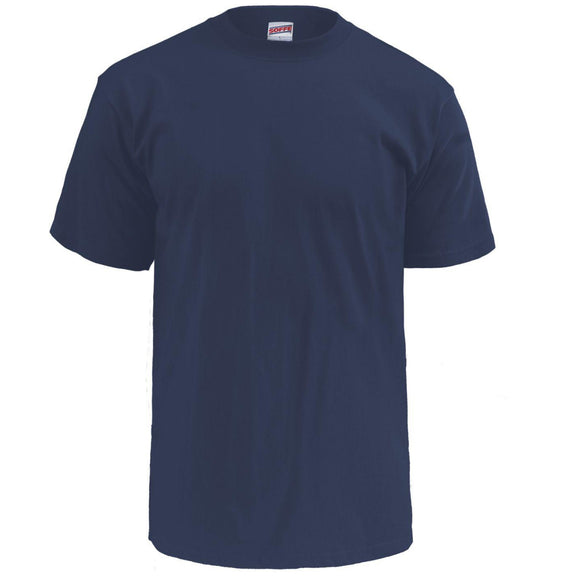 US Navy Crew Neck Cotton T-Shirt, Gov't Rejects— 5 Pack