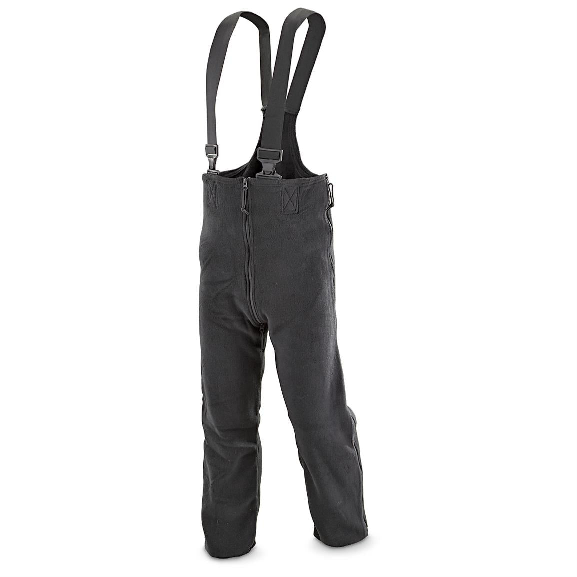 U.S Extreme Cold Military Issue Government Contractor Polartec 200 Fleece Overalls Black