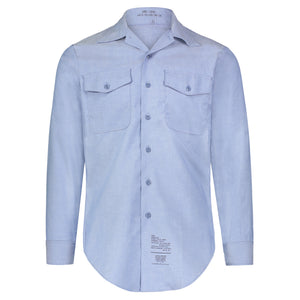 Long Sleeve FR Chambray Shirt, Size Small