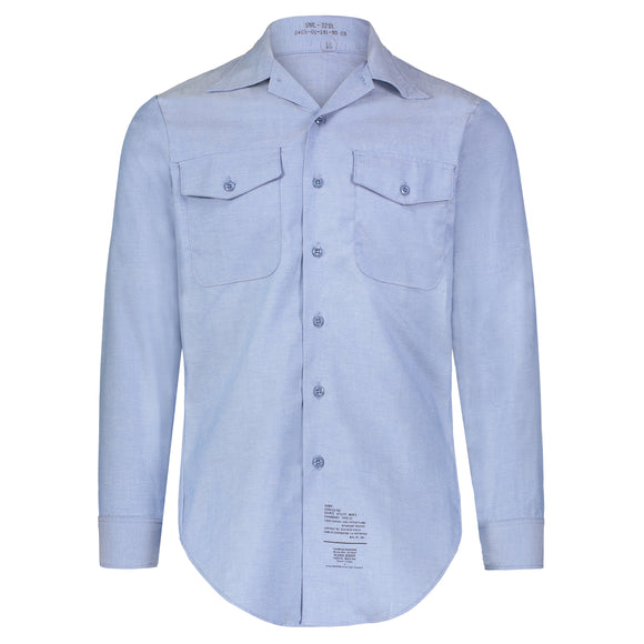 Shirt, Chambray Mens L/S FR 1987, Size S