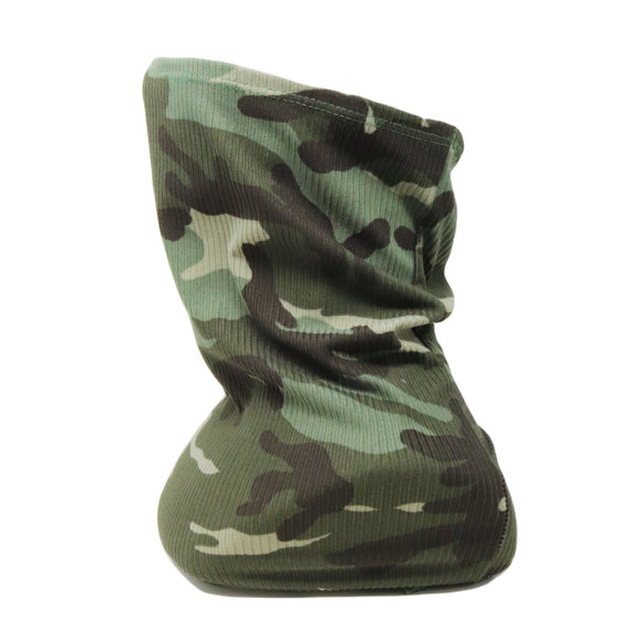 Adults Poly Spandex Ribbed Neck Gaiter— Camo