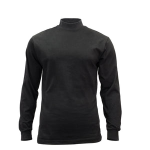 Black Mock Neck Long Sleeve Jersey