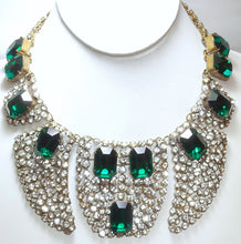 Load image into Gallery viewer, Rare 1920s/30s Vintage French Paste Bib Necklace