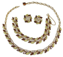 Load image into Gallery viewer, Vintage Signed Bogoff Couture Crystal Parure - Necklace, Bracelet and Earrings