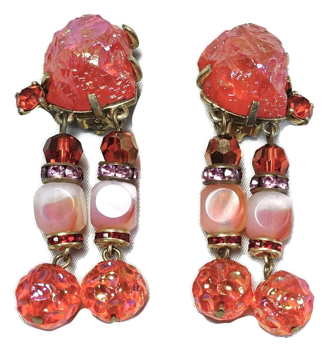 Rare Vintage Schiaparelli Dangling Earrings