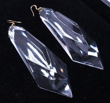 "Load image into Gallery viewer, Extremely Long Kenneth Lane Clear Lucite 4-7/8"" Pierced Earrings - JD10104"