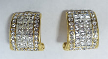 Load image into Gallery viewer, Vintage Signed Jarin Clear Rhinestone Earrings