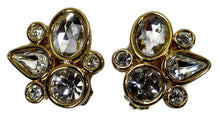 Load image into Gallery viewer, Vintage Signed Givenchy Abstract Crystal Earrings